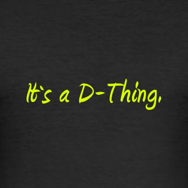 DTWear - It`s a D-Thing - Yellow / Geel