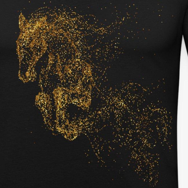 Vorschau: jumping horse gold - Männer Slim Fit T-Shirt