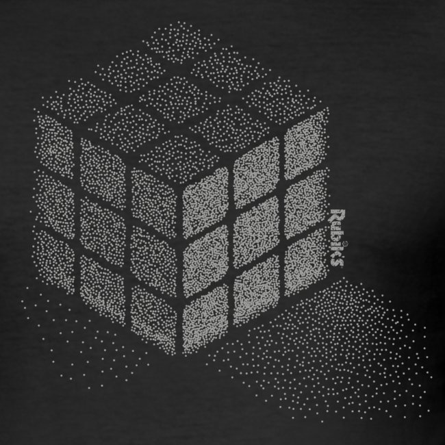 Rubik's Cube Stippling Dotted Cube