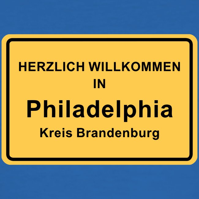 Ortsschild Philadelphia