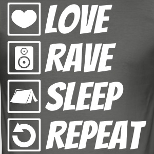 Love rave sleep repeat festival - Men's Slim Fit T-Shirt