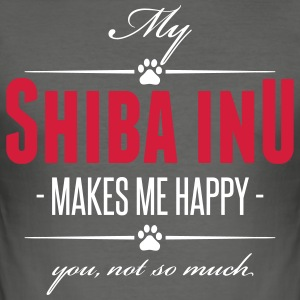 My Shiba Inu makes me happy - Men's Slim Fit T-Shirt