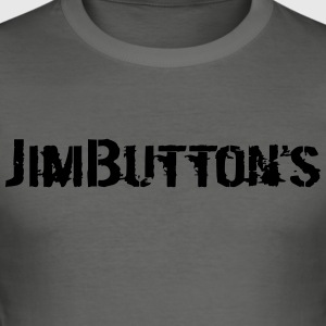 JimButton's black - Men's Slim Fit T-Shirt