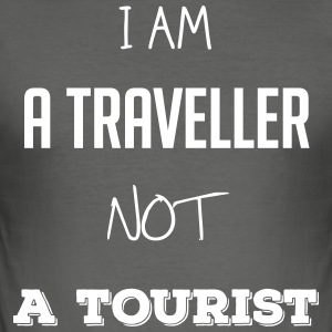 I am a traveler not a tourist - Men's Slim Fit T-Shirt