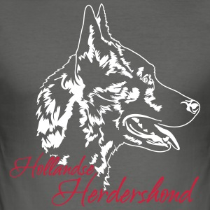 Dutch Shepherd Dog - Slim Fit T-skjorte for menn