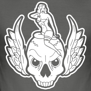 SKULL RIDER - Slim Fit T-skjorte for menn