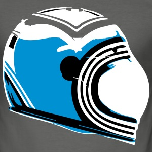 Cafe Racer Helmet - Slim Fit T-skjorte for menn