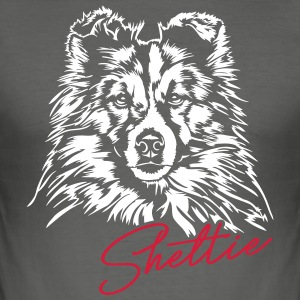 Sheltie - Herre Slim Fit T-Shirt