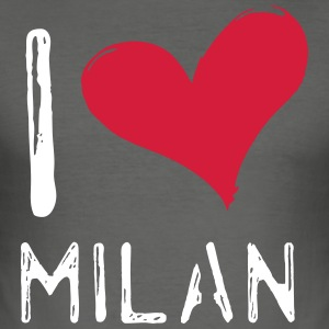 I Love Milano - Herre Slim Fit T-Shirt