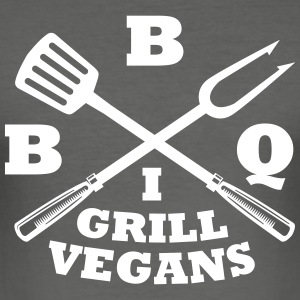Barbecue in grill vegans (BBQ) - Men's Slim Fit T-Shirt