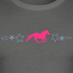 Star design with horse - Men's Slim Fit T-Shirt