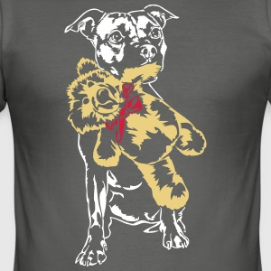 Staffordshire med Teddy - Herre Slim Fit T-Shirt