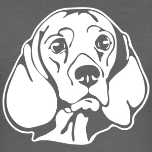 BEAGLE PORTRET - slim fit T-shirt