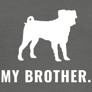 Pug - My Brother - Slim Fit T-skjorte for menn