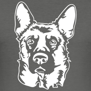 GERMAN SHEPHERD PORTRAIT - Men's Slim Fit T-Shirt