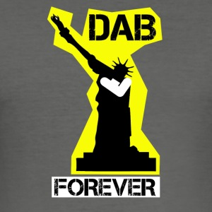 DAB FOREVER STATUE OF YELLOW Liberty- - Men's Slim Fit T-Shirt