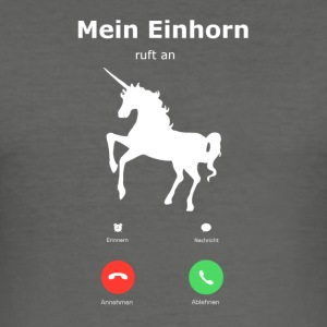 My Unicorn is calling - Men's Slim Fit T-Shirt