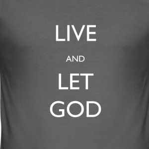 LIVE-OG-LET-GUD - Slim Fit T-skjorte for menn