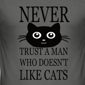 CAT MAN WHO DONT LIKE CAT - Männer Slim Fit T-Shirt