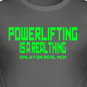 REAL THING Green - Men's Slim Fit T-Shirt