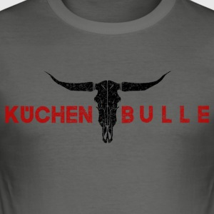 Küchenbulle red - Men's Slim Fit T-Shirt