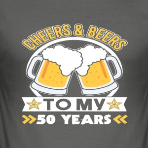 50th birthday beers - Men's Slim Fit T-Shirt