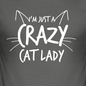 Crazy Cat Lady - Slim Fit T-skjorte for menn