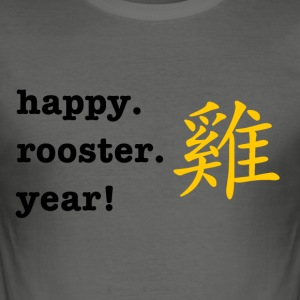 happy rooster year - Männer Slim Fit T-Shirt