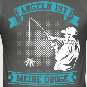 FISHING IS MY DRUG - BLUE - Men's Slim Fit T-Shirt