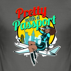 Pretty With A Passport - Men's Slim Fit T-Shirt