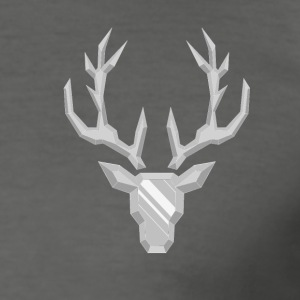 Precious Stone: Crystal Deer - Herre Slim Fit T-Shirt