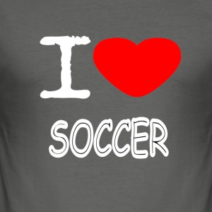 I LOVE SOCCER - Slim Fit T-skjorte for menn