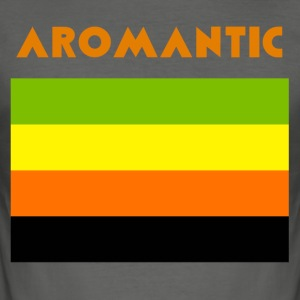 AROMANTISCHE FLAGGE - Männer Slim Fit T-Shirt