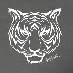 Tribal Tiger - Männer Slim Fit T-Shirt