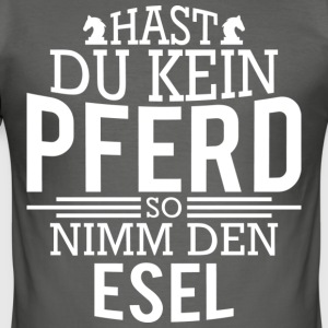 häst Tshirts - Slim Fit T-shirt herr