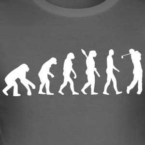 Evolution golf golfspiller golf w - Herre Slim Fit T-Shirt