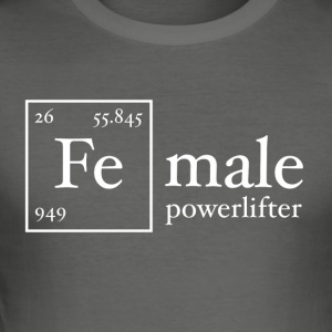 Fe Powerlifter - Herre Slim Fit T-Shirt