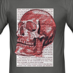 SKULL-RED - Slim Fit T-skjorte for menn