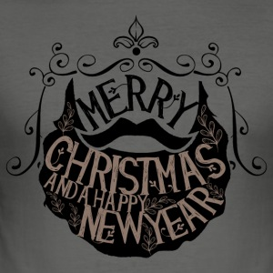 Merry Christmas and a happy new year - Männer Slim Fit T-Shirt