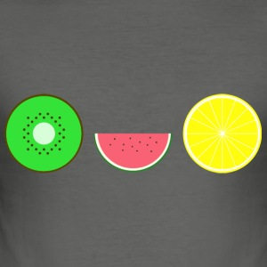 DIGITAL FRUGTER - Hipster KIWI LEMON MELON - Herre Slim Fit T-Shirt