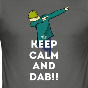 dab keep dabbing touchdown fun cool LOL football - Men's Slim Fit T-Shirt