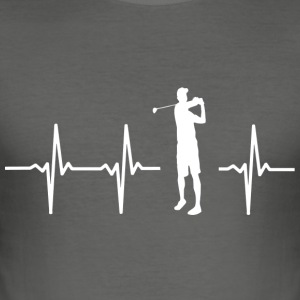 Ik hou van golf (golf heartbeat design) - slim fit T-shirt
