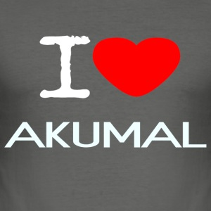 I LOVE AKUMAL - Slim Fit T-skjorte for menn