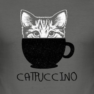 Catpuccino - Männer Slim Fit T-Shirt