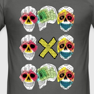 TRIO CALAVERA X - Men's Slim Fit T-Shirt