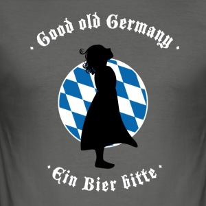 beer bayern oktoberfest germany flag girl blauwei - Men's Slim Fit T-Shirt