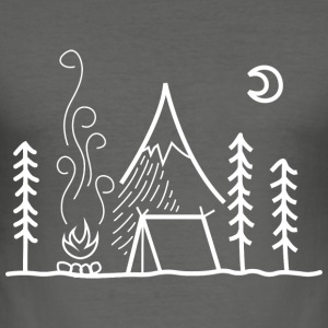 camping - Tee shirt près du corps Homme