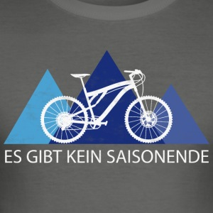 MTB Mountainbike - Season - Männer Slim Fit T-Shirt