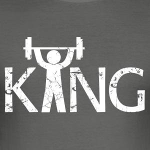 King of the Gym - Slim Fit T-skjorte for menn