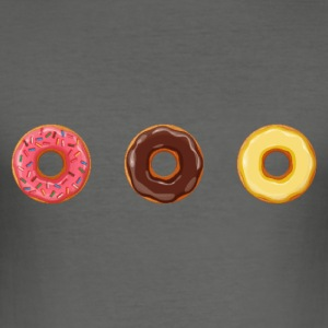 Pixel Donuts Trio - Men's Slim Fit T-Shirt